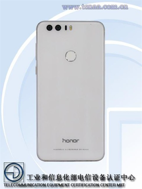 honor 8 de color blanco en la TENAA