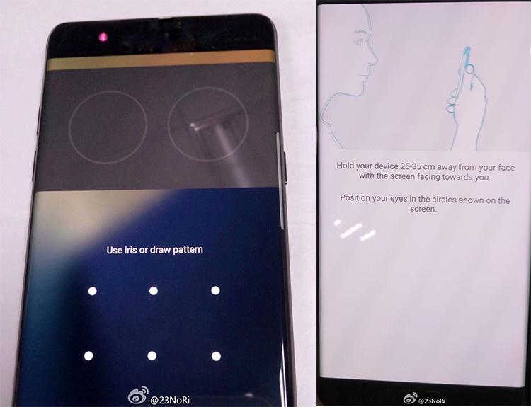 Escaner de iris en el Samsung Galaxy Note 7