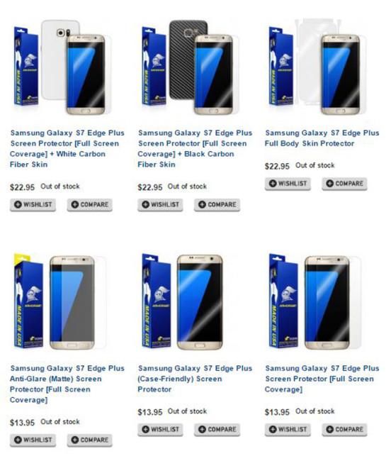 Accesorios del Samsung Galaxy S7 Edge Plus