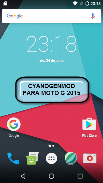 Motorola Moto G 2015 cyanogen 13