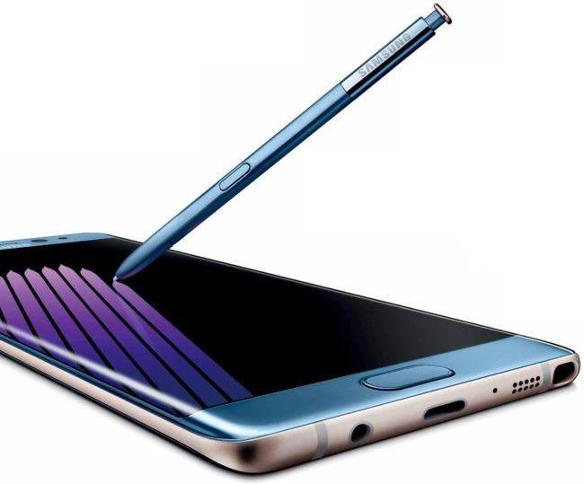 Samsung Galaxy Note 7 color azul coral