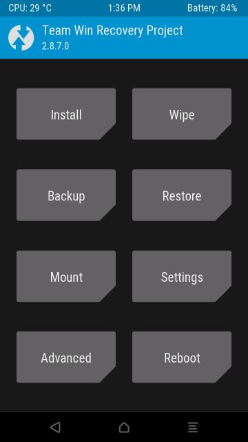 Motorola Moto G 2015 twrp