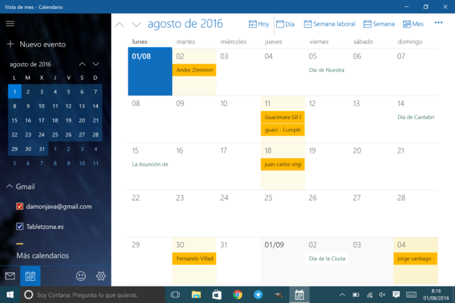 Calendario Per Pc.How To Use Google Calendar On Your Pc Or Tablet Windows 10