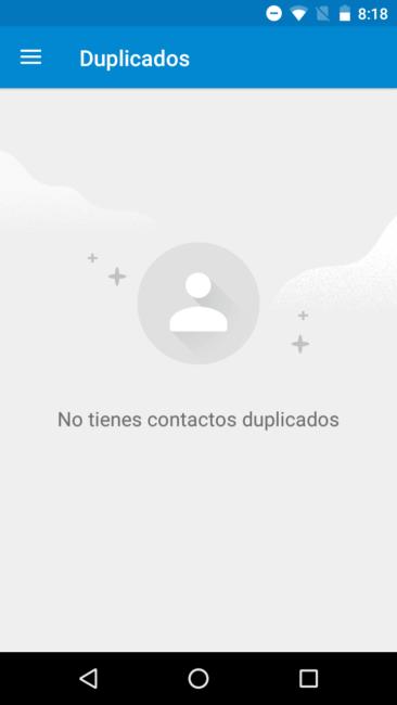 Apartado duplicados en los Contactos de Google
