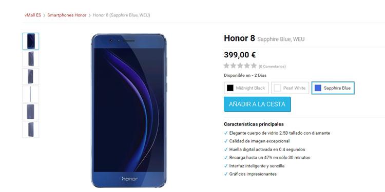 Lanzamiento comercial del Huawei Honor 8