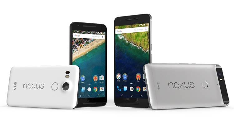 Smartphones Nexus 5X y Nexus 6P