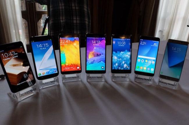 Samsung Galaxy Note 7 versiones
