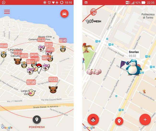 Mapa de PokeMesh para Pokémon GO
