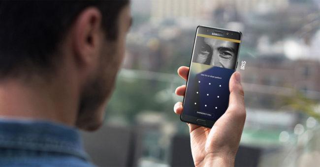 Escáner de iris del Samsung Galaxy Note 7
