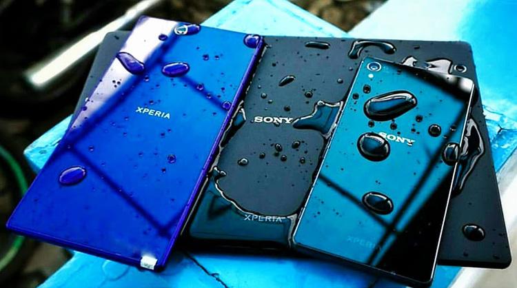 Equipos Sony Xperia resistentes al agua