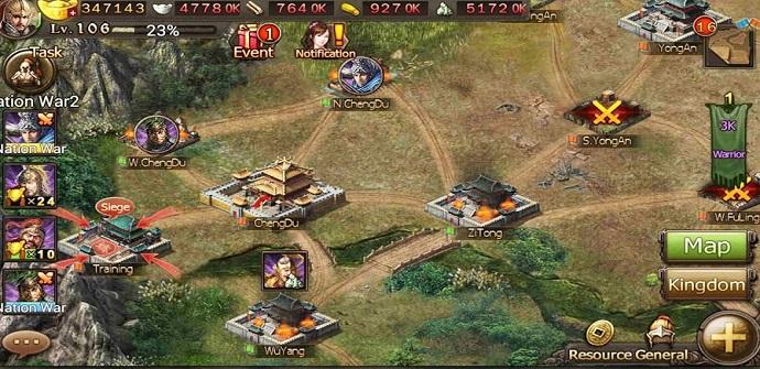 conquest 3 kingdoms escenario