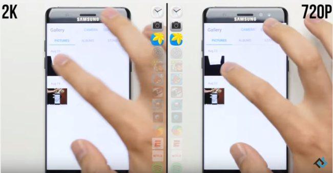 comparativa de velocidad Samsung Galaxy Note 7