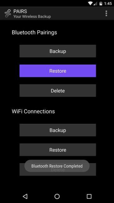 Conexiones Wifi pairs