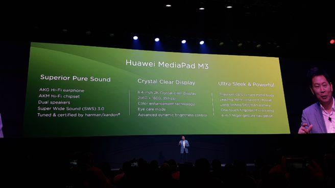 MediaPad M3 especificaciones