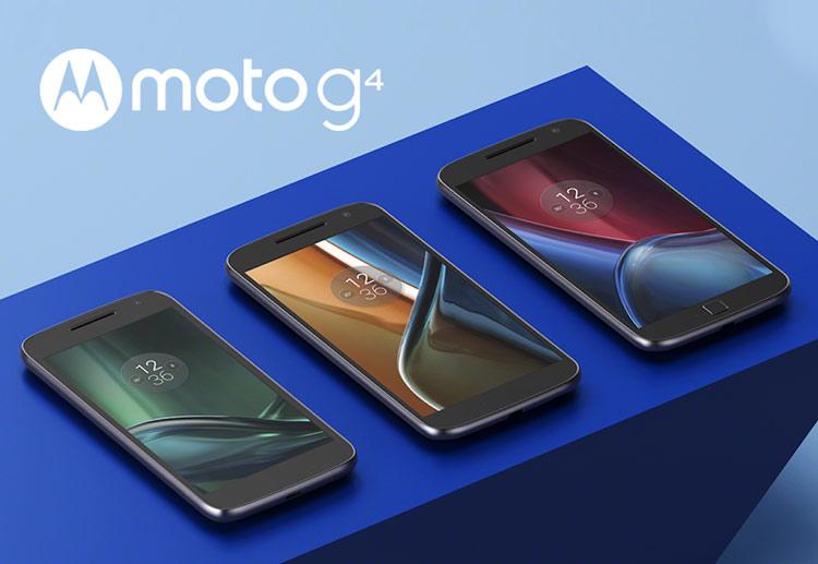 Familia de smartphones Moto G4 de Lenovo