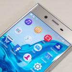 Sony Xperia XZ detalle del auricular y pantalla