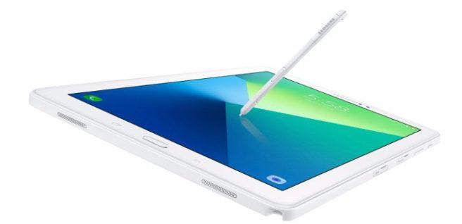 tab a s pen blanco
