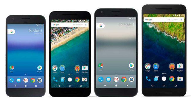 familia Google Pixel y Nexus