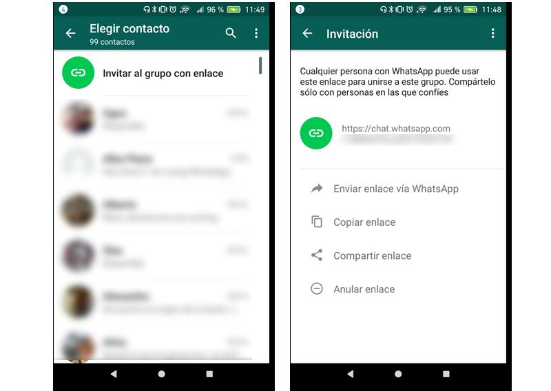 pantallas enlaces grupos whatsapp