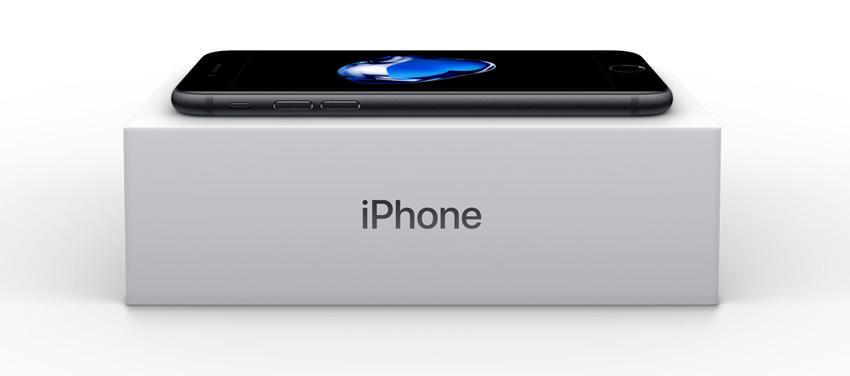 Caja de embalaje del iPhone 7