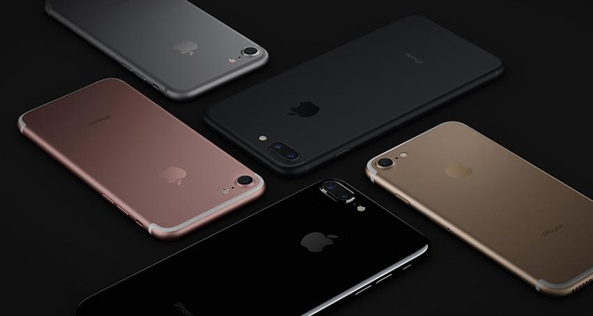Colores disponibles para el iPhone 7