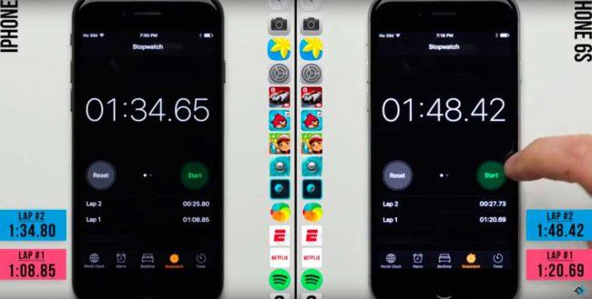 velocidad del iPhone 7