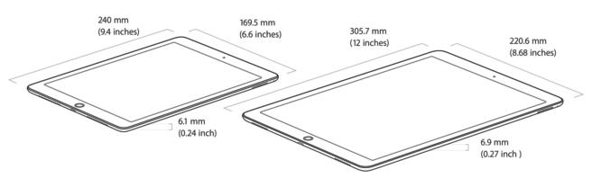 dimensiones iPad pro 12.9