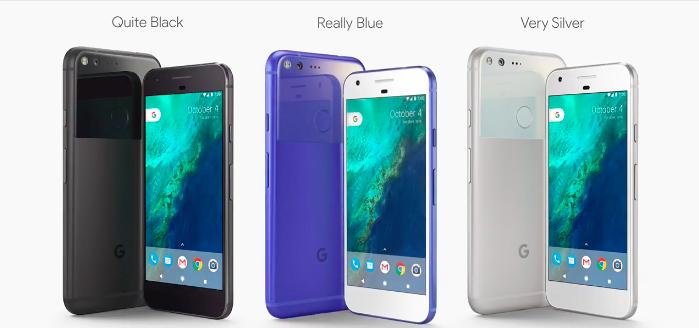 colores google pixel