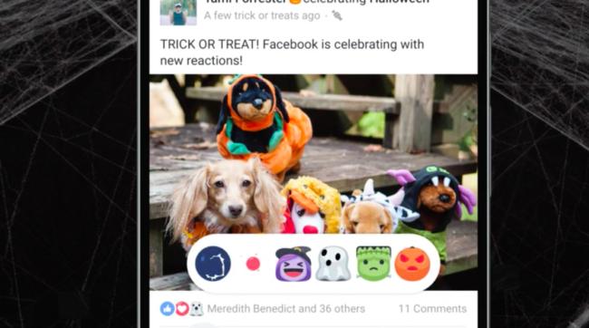 reacciones halloween facebook