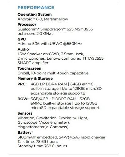 características del Moto M