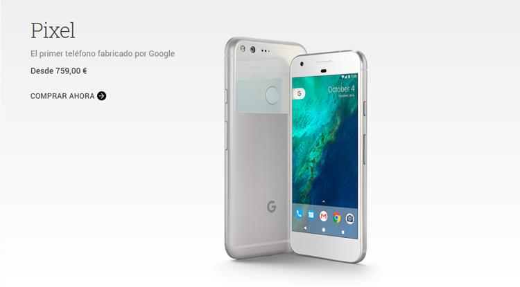 Precio del Google Pixel en España según la tienda del buscador