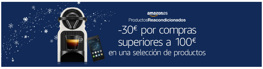 cartel descuento amazon móviles reacondicionados