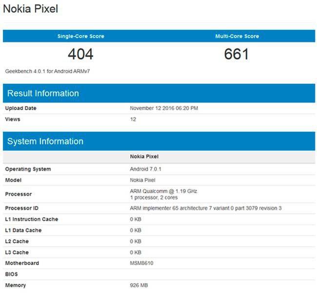 Nokia Pixel con Android Nougat