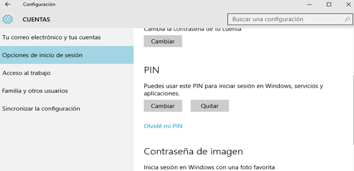 pin windows 10 pantalla