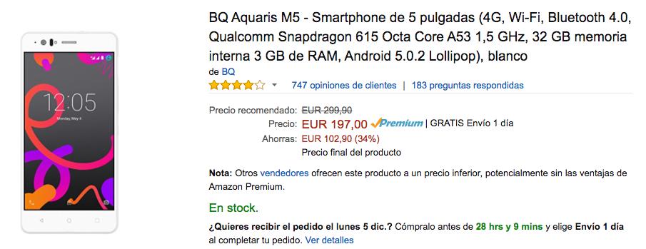 bq aquaris m5 oferta