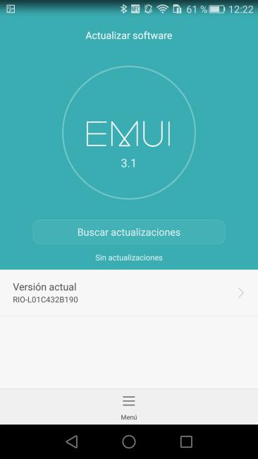 Comprobar actualizaciones EMUI