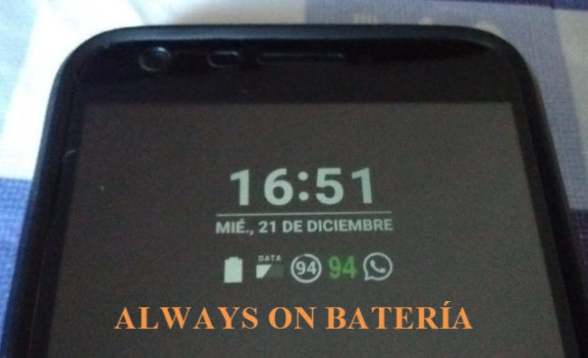 ALWAYS ON DEL LG G5 BATERÍA