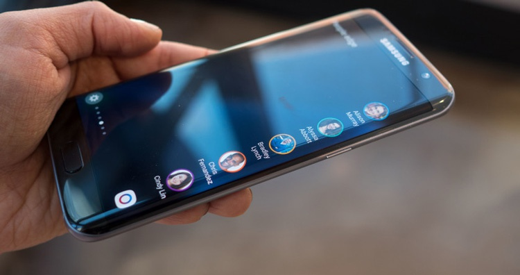 Display curvo de un hipotético Samsung Galaxy S8