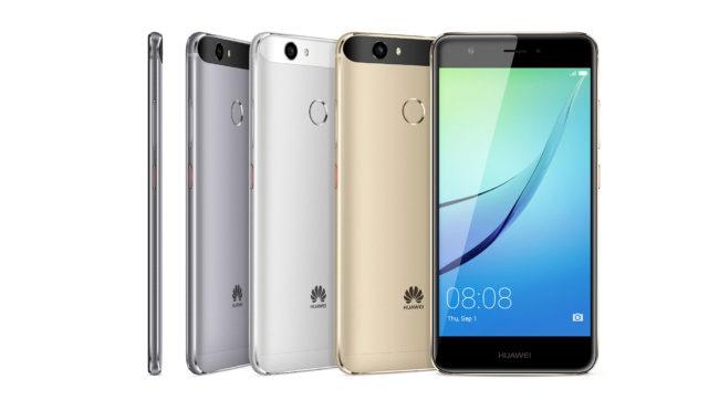 Huawei Nova negro, plata, oro y blanco