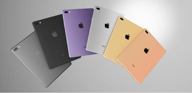 iPad Pro 2 de 10,5 pulgadaas trasera renders