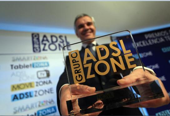 celestino garcía con Premio ADSLzone