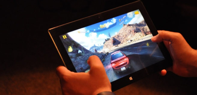 tablet windows car race