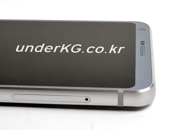 Foto con enfoque macro de la carcasa del LG G6