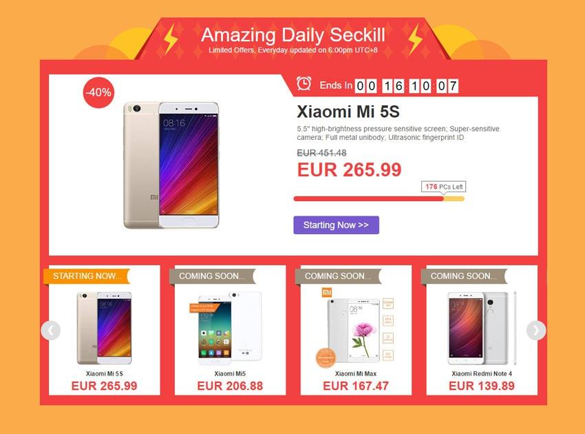 Promoción con grandes descuentos en smartphones Xiaomi
