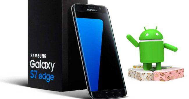 Samsung Galaxy S7 con andoid nougat
