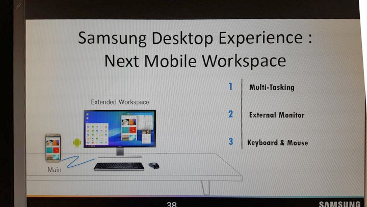 samsung galaxy 8 en funcion desktop