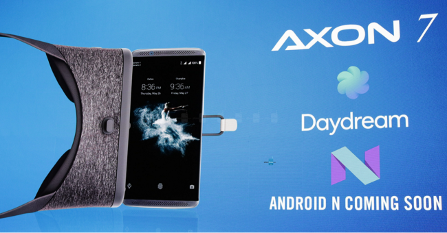 The ZTE Axon 7 will have support to Google Daydream with