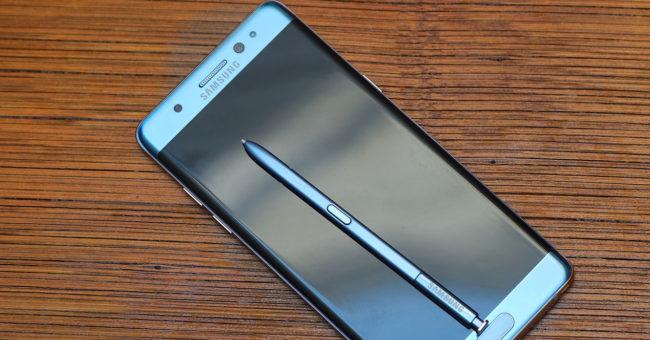 Imagen frontal del phablet Samsung Galaxy Note 7