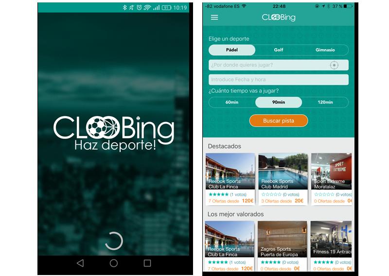 app de cloobing pantallazos