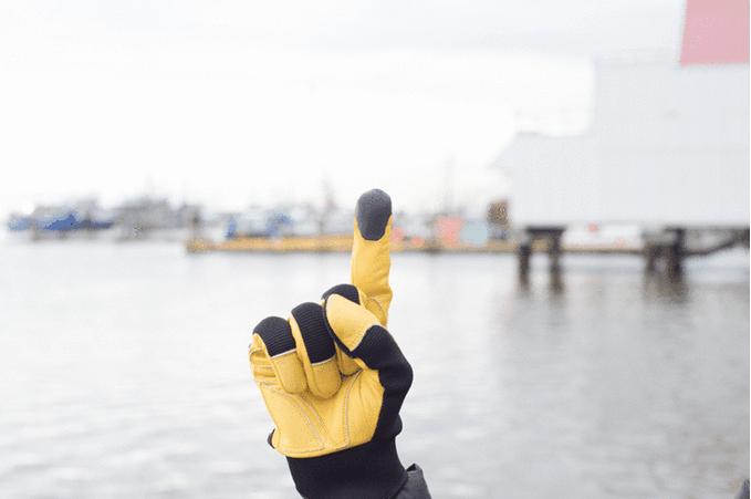 TAPs guante amarillo
